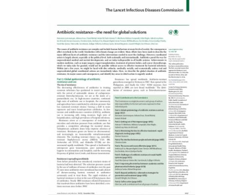 Resistencia a los Antibióticos, La Necesidad de Soluciones Globales (Inglés)